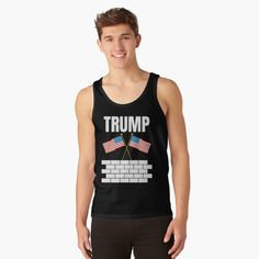 TRUMP 2020 election - Get yourself a funny custom desing from RIVEofficial Redbubble shop : )) .... tags: #president   #usa #donaldtrump  #funny #trump #buildawall #wall #humour #republican  #democrat #election #trump #2020 #findyourthing #shirtsonline #trends #riveofficial #favouriteshirts #art #style #design #nature #shopping #insidecollection #redbubble #digitalart #design #fashion #phonecases #access #customproducts #onlineshopping #accessories #shoponline #onlinestore #shoppingonline Stylish Shirts, Donald Trump, Online Shopping, Tank Man, Tank Tops, T Shirt, Fashion Design, Style, Supreme T Shirt