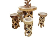 hand carved suar wood bar set with seat stools chair Teak Garden Furniture, Solid Wood Furniture, Large Furniture, Modern Furniture, Home Furniture, Man Cave Homes, Root Table, Teak Table, Stool Chair