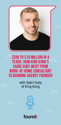 Listen in as Sabri Suby, the founder of Australia's fastest-growing digital marketing agency, discusses how he scaled from zero to 10 million in revenue in only four years and the principles he learned along the way. Promote Your Business, Starting A Business, Foundr Magazine, Email Subject Lines, Community Boards, Blog Names, Career Goals, King Kong, Successful People