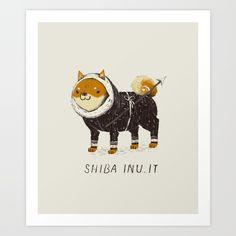 Shiba Inu It by Louis Roskosch