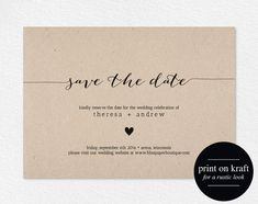 Save the Date Invitation Save the Date von BlissPaperBoutique