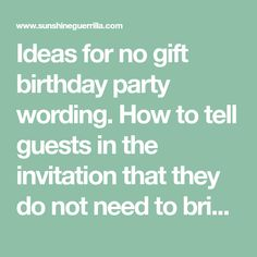No gifts please invitation wording creative melissa designs ideas for no gift birthday party wording how to tell guests in the invitation that stopboris Gallery