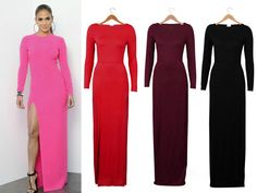 Celebrity Womens Long Sleeve Slim Bodycon Prom Tunic Cocktail Party Maxi Dress q #Unbranded #Maxi #Casual