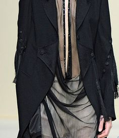 | draped | sheer | dark | black | layers | jacket | grey | delicate |
