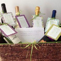 Bridal shower gift- poems for each bottle of wine