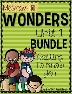 Reading Wonders, First Grade, Unit 1: Getting to Know You - printables, rubrics, posters, flash cards, extra practice, review sheets  Included in this bundle are all five weeks of printables, along with the Focus Wall.  Save over 20% by purchasing this bundle!
