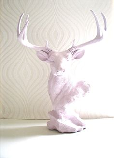 Stag Animal Statue in soft boysenberry sherbet:  by mahzerandvee