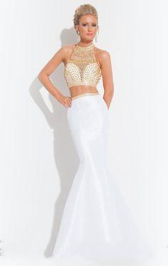 Dos piezas de cuello alto vestido de sirena pesada rebordear vestido de noche largo vestidos de noche 2015 nuevos de la llegada vestidos formales SH0450