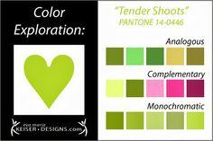 Explore Color: Tender Shoots - Eva Maria Keiser Designs