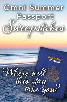 Omni Summer Passport #Sweepstakes. Grand Prize: Round trip airfare and 4-day / 3-night GHA hotel accommodations for two (2) at any one of  five GHA destinations: Rome, London, Sao Paulo, Los Angeles, or Amelia Island, FL.  How to enter: 1) Follow OmniHotels on Pinterest, 2) Repin this image, and 3) Click through the image to complete your entry. Good Luck!