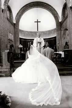 Beautiful long veil