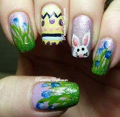 Easter Chicks Nail Art