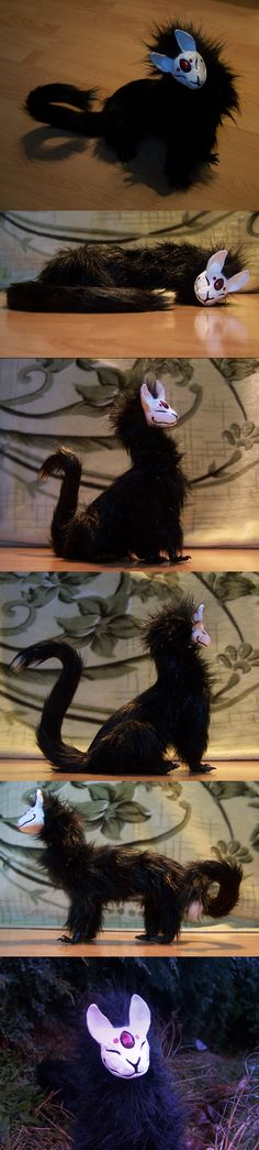 Raven - Dark Kitsou doll by *Isvoc on deviantART