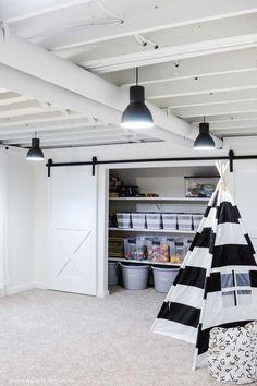 Basement Closet, Small Basement Remodel, Basement Living Rooms, Basement Renovations, Home Remodeling, Basement Ideas, Small Basement Bedroom, Small Basement Design, Finished Basement Designs
