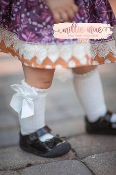 Country Kids Chocolate Pom Pom Socks 1-2 years Baby Girls Size 5-6
