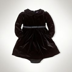 Long-Sleeved Knit Velvet Dress on shopstyle.com