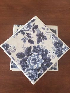 Flower coasters, blue coasters, ceramic tile coasters, tile coasters, coaster set, table coasters, drink coasters, bar coasters by KCstylejewelry on Etsy https://www.etsy.com/uk/listing/268468087/flower-coasters-blue-coasters-ceramic