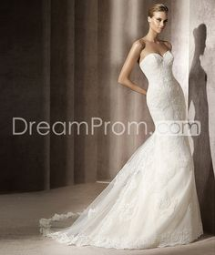 Fabulous  Floor-Length  Sweetheart Chapel  Trumpet/Mermaid Wedding Dresses 2014 Spring Trends
