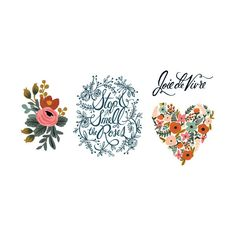 Rifle Paper Co. joins Tattly! From beautifully lettered words to live by to Rifle Paper Co.'s signature flowers, the Floral Set is filled with 2 each of 4 amazing Tattly designs!
