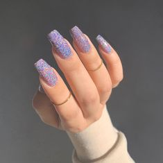 Simple Fall Nails, Simple Acrylic Nails, Holographic Nail Polish, Holographic Glitter, Nail Designer, Manicure E Pedicure, Nail Swag, Stylish Nails, Stiletto Nails