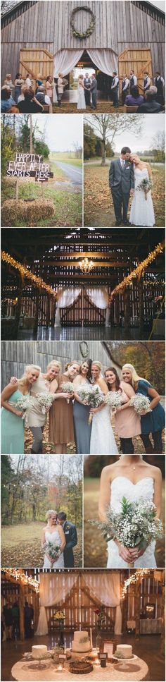 Wedding barn collage