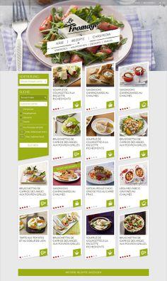 Le Fromage - Logo and Webdesign proposal by Patrick Schöpflin, via Behance Food Web Design, Menu Design, App Design, Layout Design, Design Ideas, Website Layout, Web Layout, Maquette Site Web, Mise En Page Web