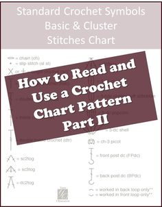 Part 2 of How to read a crochet chart by Yarn Obsession. Learn about grouping stitches together and what they look like on a chart.