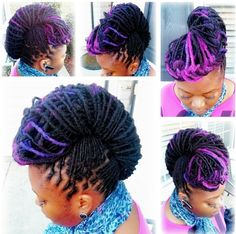 Purple loc updo by Rau Dredz