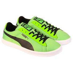 30fe89c8e25 Be bold and go green with these new arrival Puma lace up sneakers! Ruze  Shoes