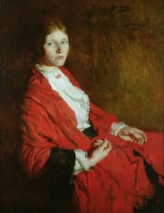 The Red Scarf by Sir William Orpen (Irish 1878-1931)
