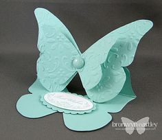 Pool Party Butterfly using Stampin' Up! Oval All retired stamp set.