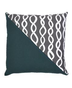 Charcoal Grey DNA Patchwork Pillow