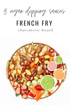 Dairy free sauce recipes for gluten free french fries. A simple charcuterie board for a family dinner. Dipping sauces for a plant-based meal. Dairy Free Sauces, Dairy Free Recipes, Real Food Recipes, Vegan Recipes, Gluten Free, Free French, Dipping Sauces, Unprocessed Food, Nutrition Guide