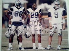 Tony Romo, DeMarco Murray & Dez Bryant Signed 8x10 Photo