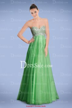 Breezy Sweetheart Empire Tulle Prom Gown with Beaded Bodice