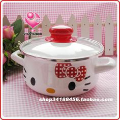 HELLO KITTY WHITE COLOR 16CM Cookware Multi Use Boiling Pot Easy Convenient Use | eBay