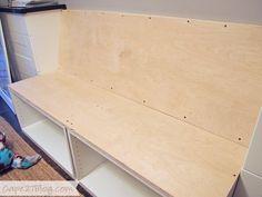 DIY Built-in Banquette | Cape27Blog.com