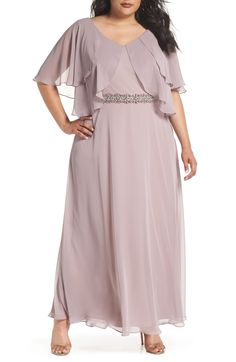 1ef3be9f9151e Alex Evenings Embellished Waist Flutter Dress (Plus Size)