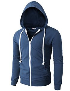 H2H-Mens-Fashion-Lightweight-Zip-up-Hoodie-with-Pocket-Of-Various-Colors