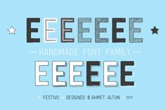 Festivo is a hand drawn layered font family created in 2013 by type designer Ahmet Altun. The Festivo font family includes several letter Handwritten Fonts, Typography Fonts, Script Lettering, Serif Font, Sans Serif, Calligraphy, Different Fonts, Design Graphique, Great Words
