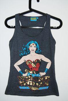 Grey Wonder Woman Tank