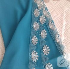 This Pin was discovered by gul Hand Embroidery Dress, Needle Lace, Floral Tie, Alexander Mcqueen Scarf, Tatting, Diy And Crafts, Fashion Outfits, How To Wear, Clothes