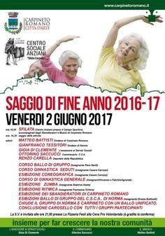 Centro Sociale Anziani - Saggio di fine Anno 2016-17 - Carpineto Romano