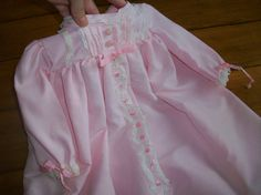 Size 0 to 6 months Vintage Infant Girl Pink lace by LittleMarin,