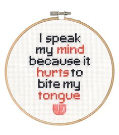 Say It! in cross stitch-Speak My Mind
