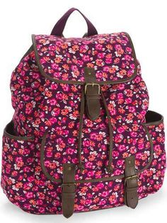 Victoria's Secret Pink Blue Floral Backpack, Mini Duffle Bag ...