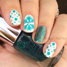 Snowflake Mani #ruthsnailart #nailart #nails