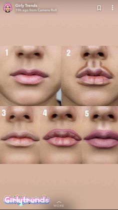 Pin by France Bougie on Maquillage in 2019 - Kama D. Moreau - - Pin by France Bougie on Maquillage in 2019 -Pin by Cecilia Dominguez on Faces & More in lip contour on both the top and bottom of the lip allows for a more exaggerated lip look Makeup ha Makeup 101, Makeup Guide, Makeup Tricks, Makeup Goals, Makeup Inspo, Makeup Ideas, Makeup Products, How To Makeup, Makeup Brushes