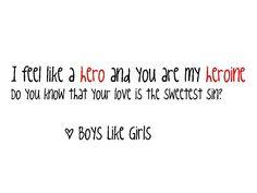 HeroHeroine- Boys Like Girls