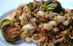 Quinoa and White Bean Risotto With Roasted Brussels Sprouts and Sundried Tomatoes